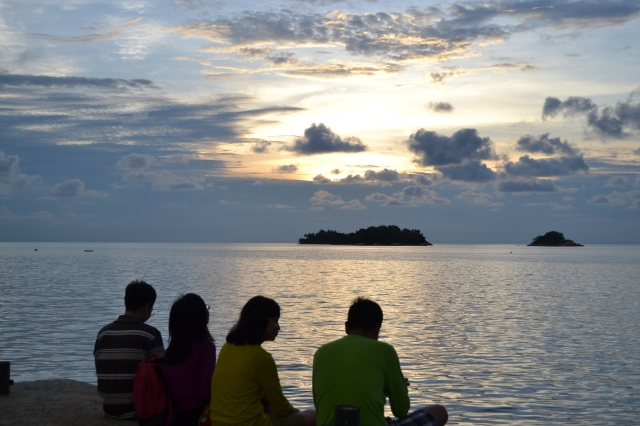 sunset at tanjung binga